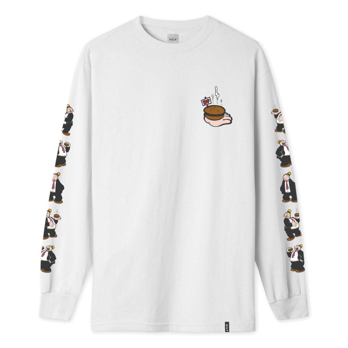 3dbf803473f48 HUF X Popeye Wimpy Long Sleeve Tee - White