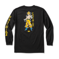Primitive Skate x Dragon Ball Z Super Saiyan Goku Long Sleeve  Tee - Black