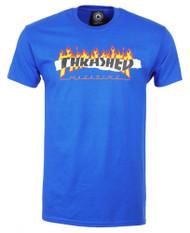 Thrasher Ripped Logo Tee - Royal Blue