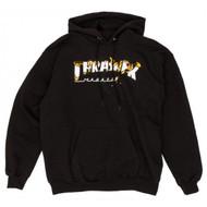 Thrasher Intro Burned Hoodie - Black