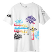 HUF Worldwide Test Print Tee - White