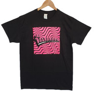 The Boardroom Wavey Tee - Black / Pink