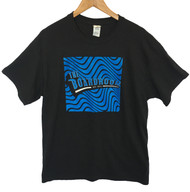 The Boardroom Wavey Tee - Black / Blue