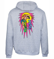 Santa Cruz - Hosoi Rocket Air Hoodie - Grey Heather