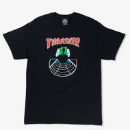 Thrasher Skateboard Magazine Doubles Tee - Black