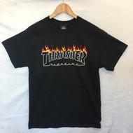 Thrasher Skateboard Magazine Scorched Tee - Black