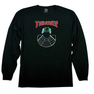 Thrasher Skateboard Magazine Doubles Long Sleeve Tee - Black