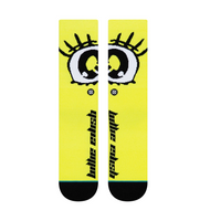 Billie Eillish x Stance Anime Eyes Socks - Neon Yellow