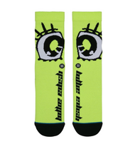 Billie Eillish x Stance Anime Eyes Socks - Neon Green