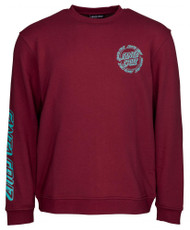 Santa Cruz Crew Ringed Dot Crew - Burgundy