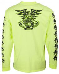 Santa Cruz Longsleeve T-Shirt - Natas Panther LS Tee - Limelight