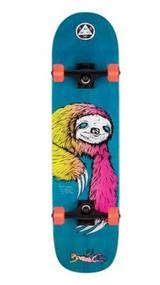 """Welcome Skateboards - Sloth Complete Skateboard - 8"""" - Blue/Surf Fade"""