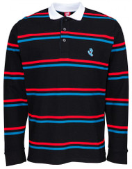 Santa Cruz L/S Polo Screaming Mini Hand Stripe - Black