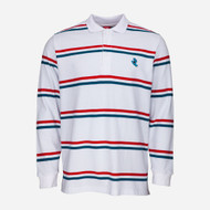 Santa Cruz L/S Polo Screaming Mini Hand Stripe - White