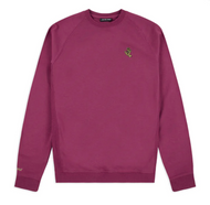 Santa Cruz - Embroidered Mono Screaming Hand Crewneck - Raspberry Pink