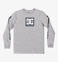 DC Square Star Long Sleeve Tee - Grey