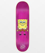 "Santa Cruz x SpongeBob Squarepants Pink Deck - 8.00"""