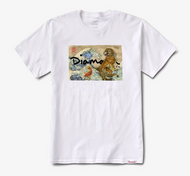 Diamond Supply Co - Tiger Wave Tee - White