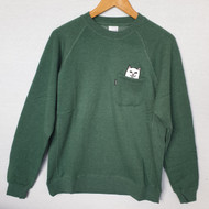 RIPNDIP - Lord Nermal Sweatshirt  Crew - Hunter Green
