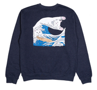 RIPNDIP - Great Wave Sweatshirt - Navy