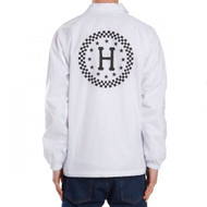 HUF Worldwide Checkered Coach Jacket - White
