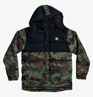 DC Straffen - Water Resistant Hooded Puffer Jacket - Camo