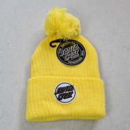 Santa Cruz - Womens Dot Pom Beanie - Yellow