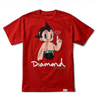 Diamond Supply Co X Astro Boy  Tee - Red