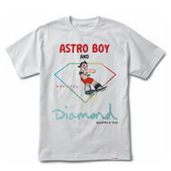 Diamond Supply Co X Astro Boy Skateboard  Tee - White