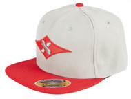 Sacrifice Original Snapback Cap - Grey/Red