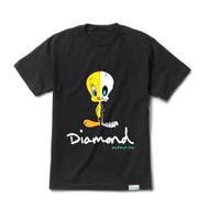 Diamond X Looney Tunes X Ray Tweety Tee  - Black