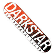 "Darkstar Wordmark RHM 8.25"" Skateboard Deck - Neon Orange"