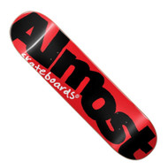 "Almost Colour Logo 8.00"" Skateboard Deck - Red / Black"