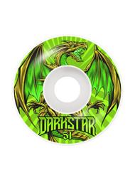 Darkstar 51mm Levitate Green Skateboard Wheels