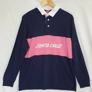 Santa Cruz - Strip L/S Polo Shirt - Dark Navy