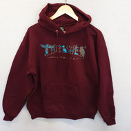 Thrasher Magazine - Hieroglyphic Pullover Hooded Sweatshirt - Burgundy