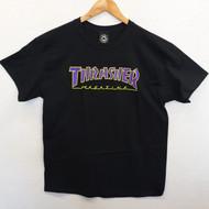 Thrasher Skateboard Magazine Outlined Tee - Black