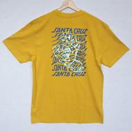 Santa Cruz Skateboards - Vortex Tee - Mustard Yellow