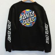 Santa Cruz Primary Dot Crew Sweatshirt - Black