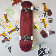Blank SB Beginner Skateboard Bundle - 7.75 inch wide - Red