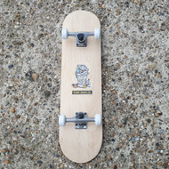 Blank Beginner Skateboard 8 inch wide - Wood Grain - Polar Stickers