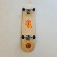 Blank Beginner Skateboard 8 inch wide - Wood Grain - Santa Cruz Stickerss