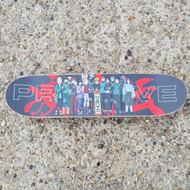 Blank SB Beginner Skateboard - Naruto Griptape - 7.75 inch wide - Black Stain