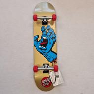 Santa Cruz 7.75 Complete Skateboard Screaming Hand - Gold/Blue