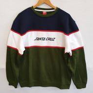 Santa Cruz Skateboards - Juice Strip Crew Sweatshirt - Green