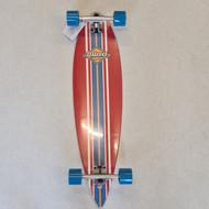 D Street Pin Tail Ocean Longboard 35 Inch - Red
