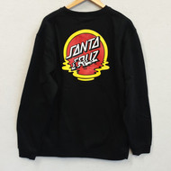 Santa Cruz Skateboards - Reflection Crew Sweatshirt - Black