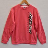 Santa Cruz Skateboards Strip Crew Sweatshirt - Washed Red