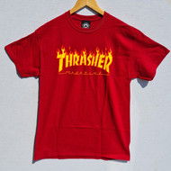 Thrasher Flame Logo Tee - Cardinal Red