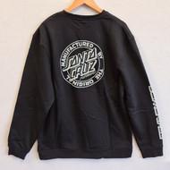 Santa Cruz Skateboards MFG Crew Sweatshirt - Black